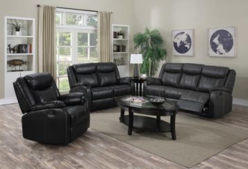 Leeds Recliner LeatherLux & PU 3 Seater