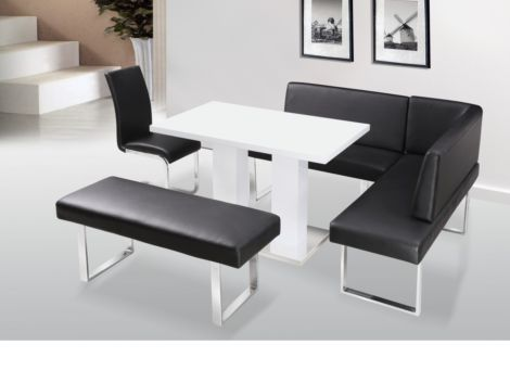 Liberty White High Gloss Dining Table