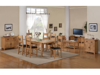 Stirling Extending Dining Table Set With 6 Dining Chairs