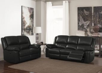 Toledo Recliner Leather & PVC 2 Seater