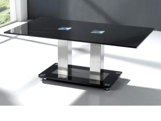 Trinity Coffee Table in Black Glass