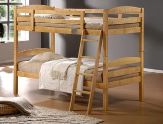 Tripoli Hard Wood Single Bunk Bed