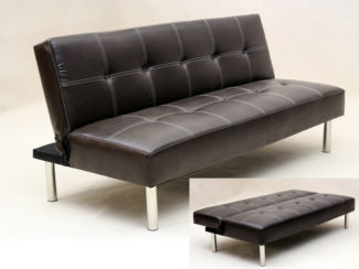 Venus Sofa Bed Available in Black Or Brown Faux Leather