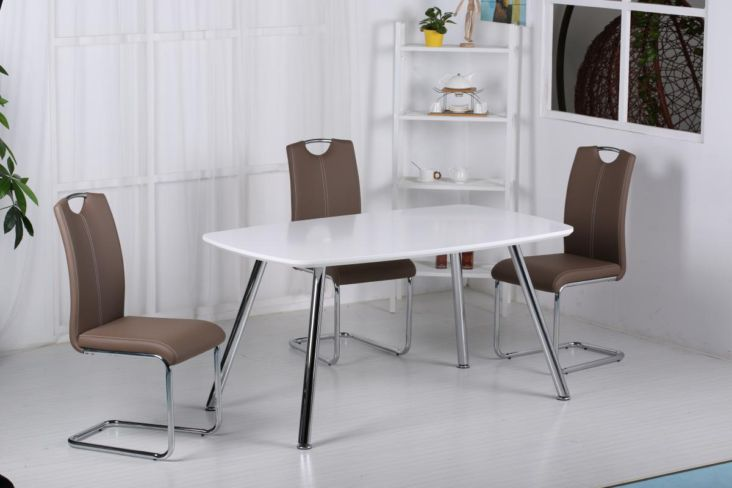 Vera Dining Set,Dining Table with 4 chairs