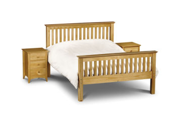 Barcelona Double Bed Solid Pine Wood