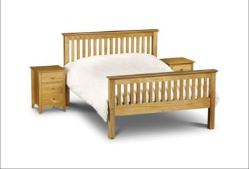 Barcelona Kingsize Bed Solid Pine Wood