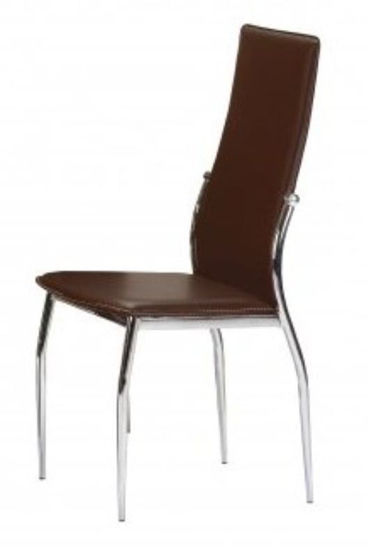 2 x Boston Brown Faux Leather Dining Chairs