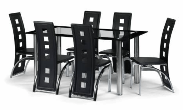 6 Seater Glass Dining Table Sets