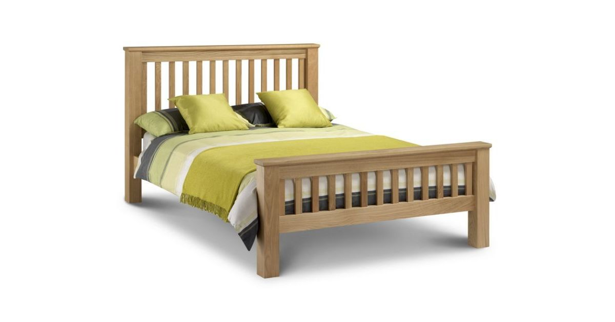 Amsterdam Double Bed Wooden Oak