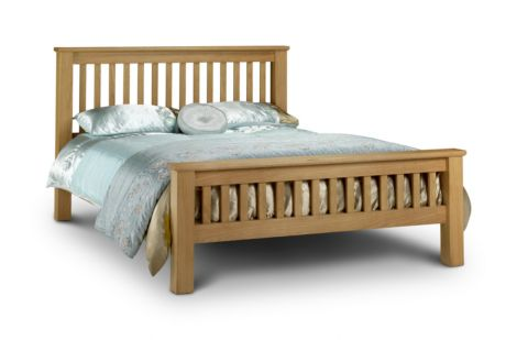 Amsterdam Oak Bed High Foot End 180cm
