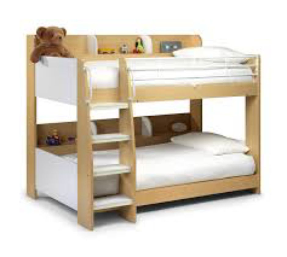 Domino Bunk - Maple/White Finish 90cm