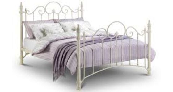 Florence bed - stone white finish 135cm