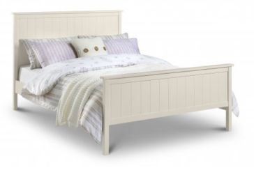 Harmony Kingsize Stone White Bed