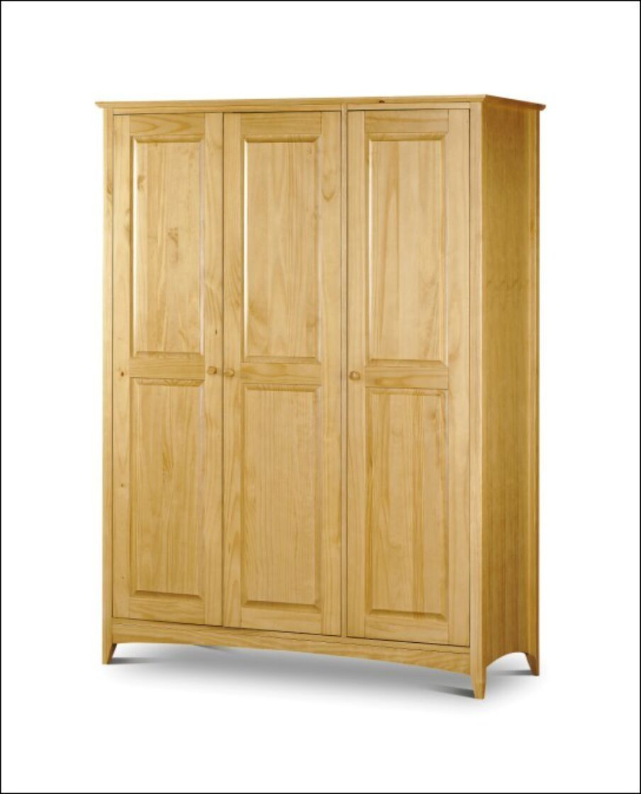Kendal 3 Door Wardrobe Solid Pine