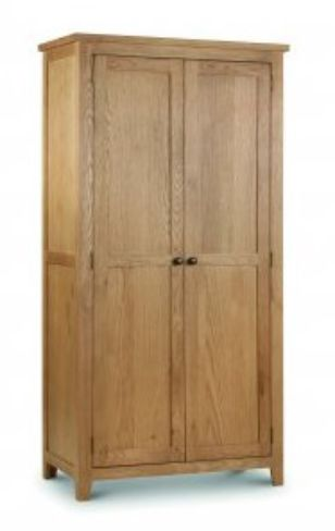 Waxed Oak Veneer Marlborough 2 Door Wardrobe