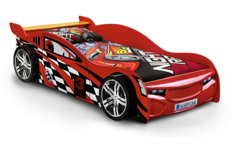 Scorpion racer bed - red lacquered finish 90cm