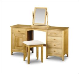 Kendal Dressing Table and Stool Solid Pine