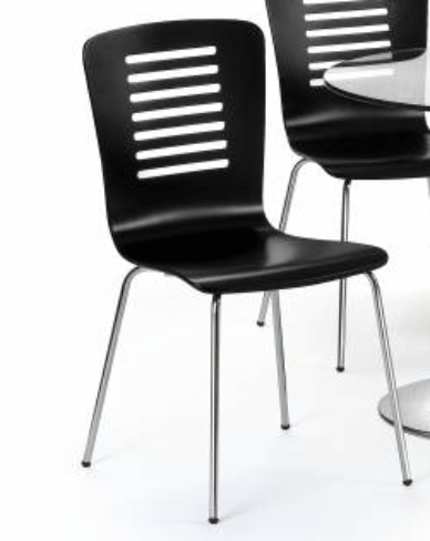 6 x Kudos Black Dining Chairs