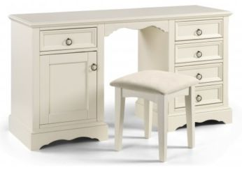 La Rochelle Twin Pedestal Dressing Table With Stool