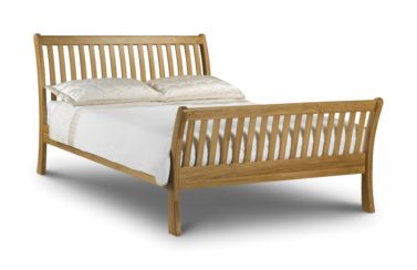 Leona Kingsize Bed Wooden Oak