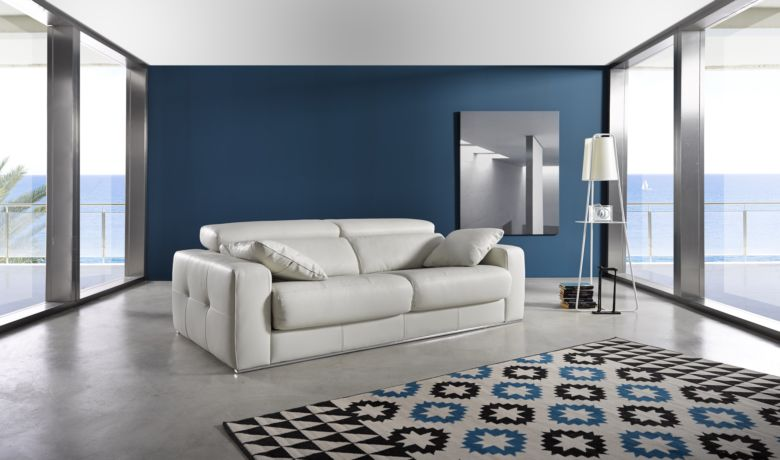 Ainoa Italian Sliding Leather Sofa Artico