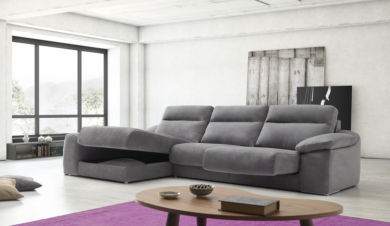 Ariel Reclining Italian Fabric Corner Group Sofa
