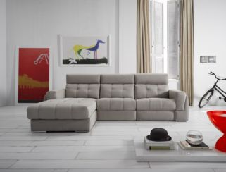 Azahara Italian Fabric Corner Group Sofa Fixed