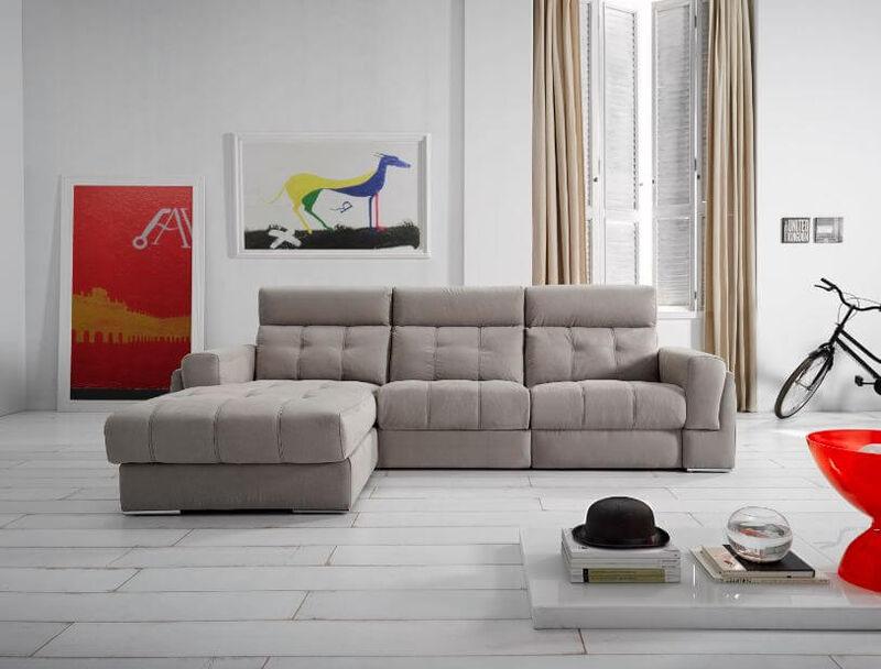 Azahara Italian Fabric Corner Group Sofa Fixed