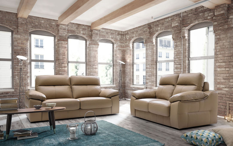 Belinda 3+2 Italian Leather Sofa Suite