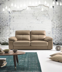 Belinda 3 Seater Italian Leather Sofa Settee