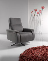 Candy Leather Reclining Revolving Designer Chair