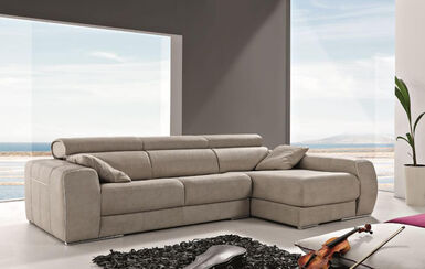 Carmen Italian Fabric Corner Group Sofa