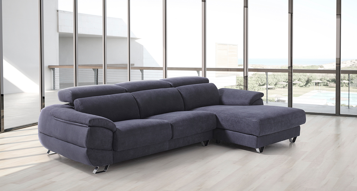 Dalmata Reclining Italian Fabric Corner Group Sofa