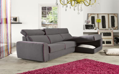 Fellini Corner Italian Fabric Sofa Grey