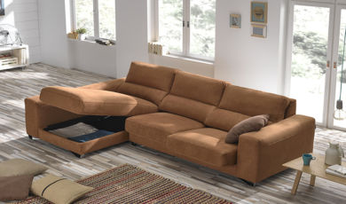Lauren Italian Fabric Corner Group Sofa
