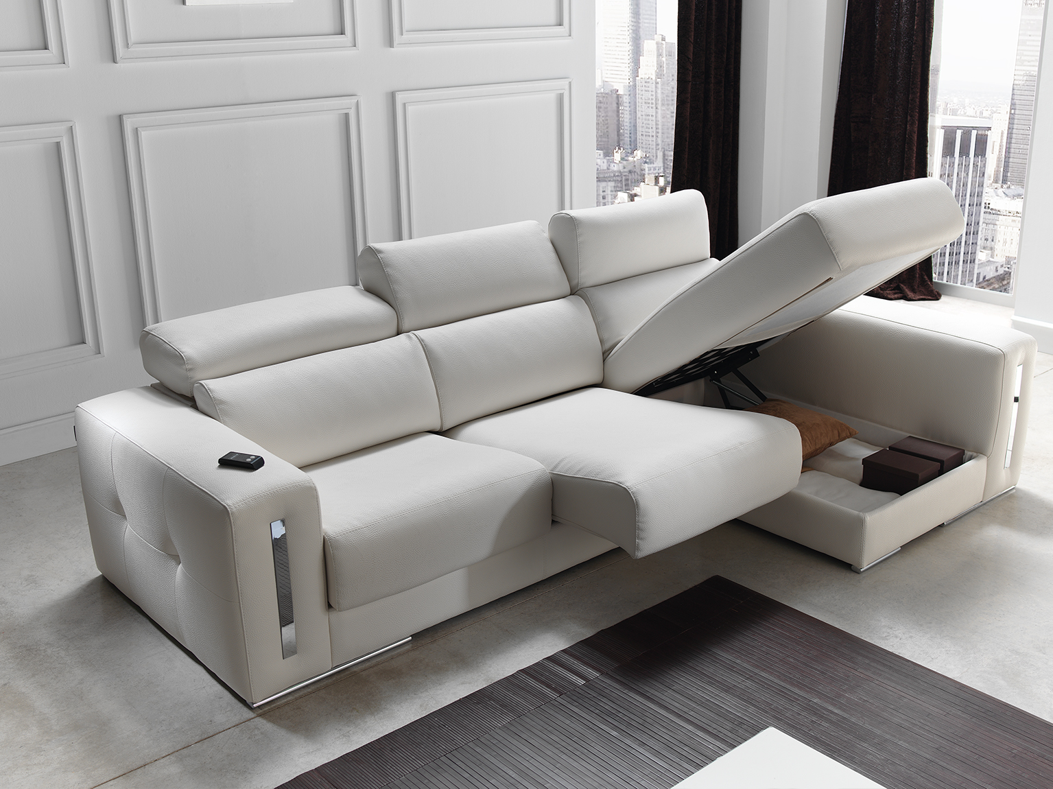 Enjoyable Sabrina Italian Reclining Leather Corner Group Sofa Blanco White Download Free Architecture Designs Sospemadebymaigaardcom