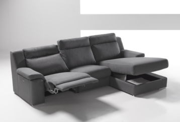 Viana Reclining Italian Fabric Corner Group Sofa