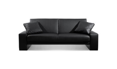Supra Sofa Bed Settee Faux Leather Black
