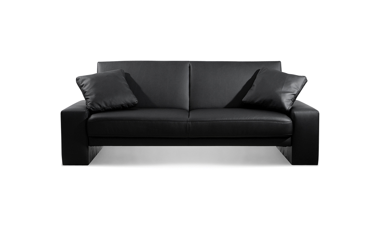 Supra Sofa Bed Settee Faux Leather Black Leather Sofas