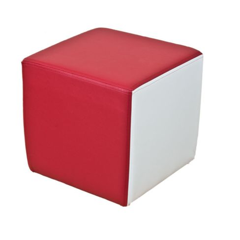Footstool Cube Pouffe Faux Leather St Georges
