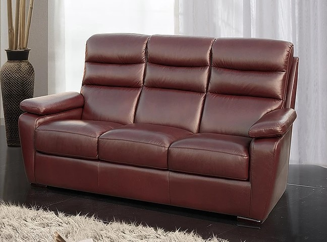 Remarkable Amalfi 3 Seater Italian Leather Sofa Offer Wine Gamerscity Chair Design For Home Gamerscityorg