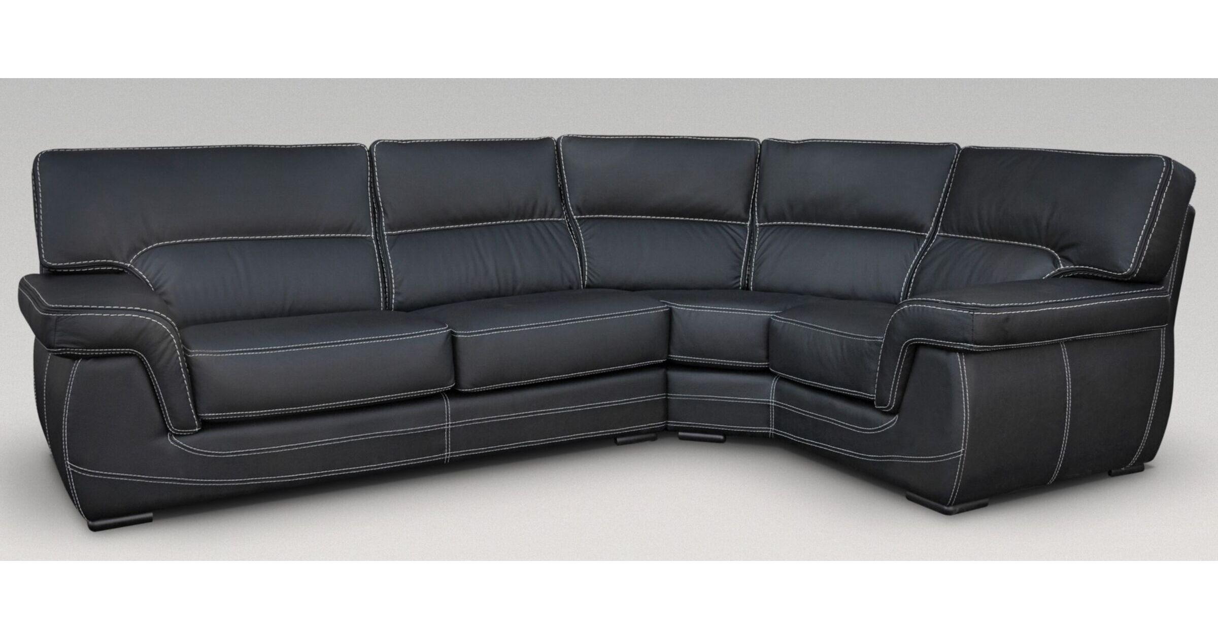 Picture of: Alaska 3 Corner 1 Genuine Italian Black Leather Corner Sofa Group Suite Offer Leather Sofas Fabric Sofas