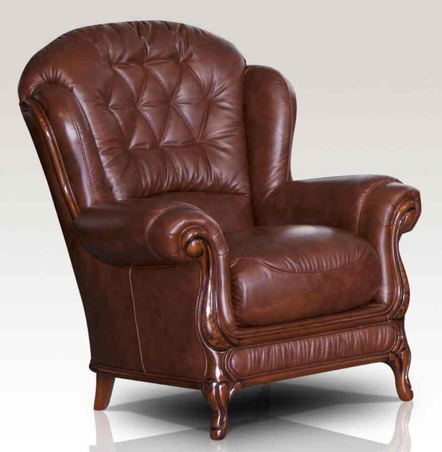 Jupiter Range Genuine Italian Sofa Armchair Tabak Brown Leather