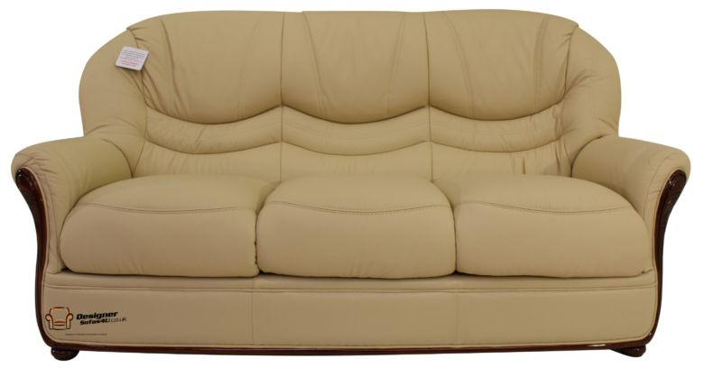 Colorado Genuine Italian Leather 3 Seater Sofa Settee Cream
