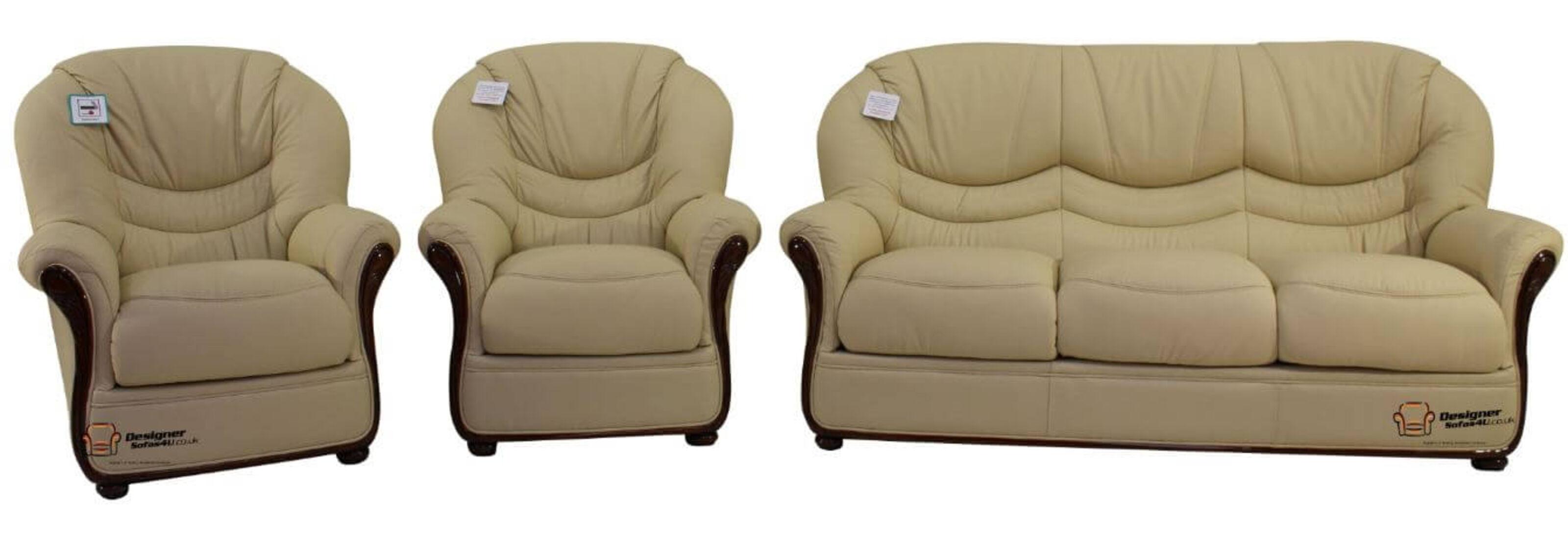 Colorado 3+1+1 Genuine Italian Cream Leather Sofa Suite Offer