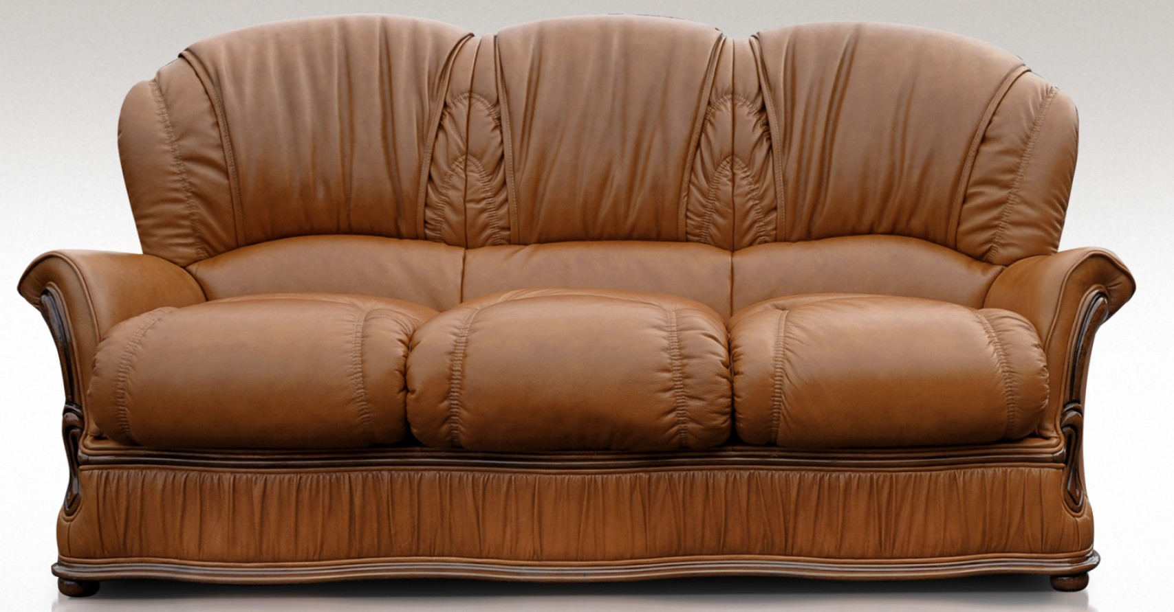 Boris 3 seater italian tan leather Italian leather sofa uk