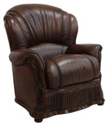 Bologna Armchair Genuine Italian Tabak Brown Leather Offer