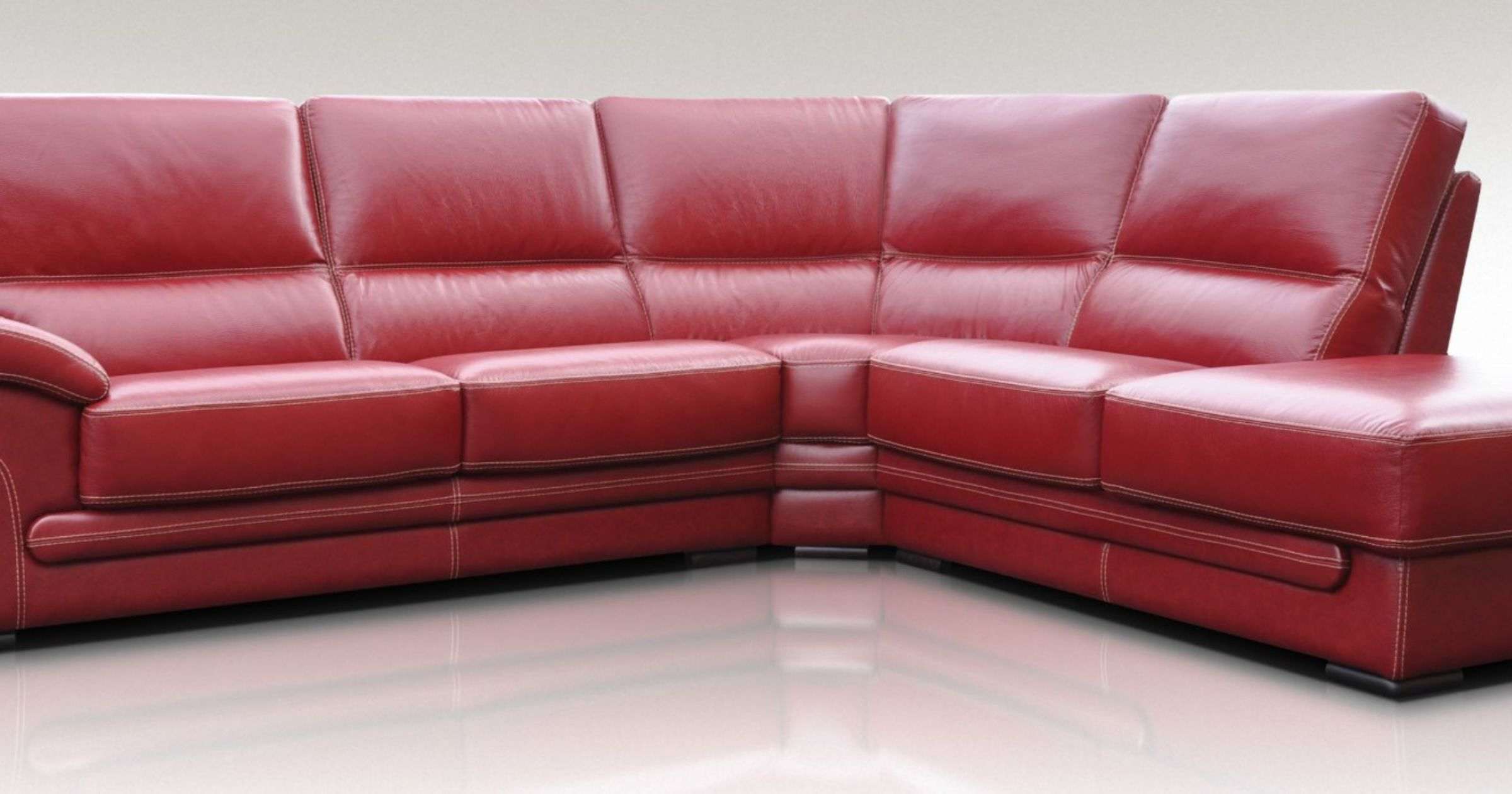 Italian Red Leather Corner Sofa Group Suite Offer Leather Sofas