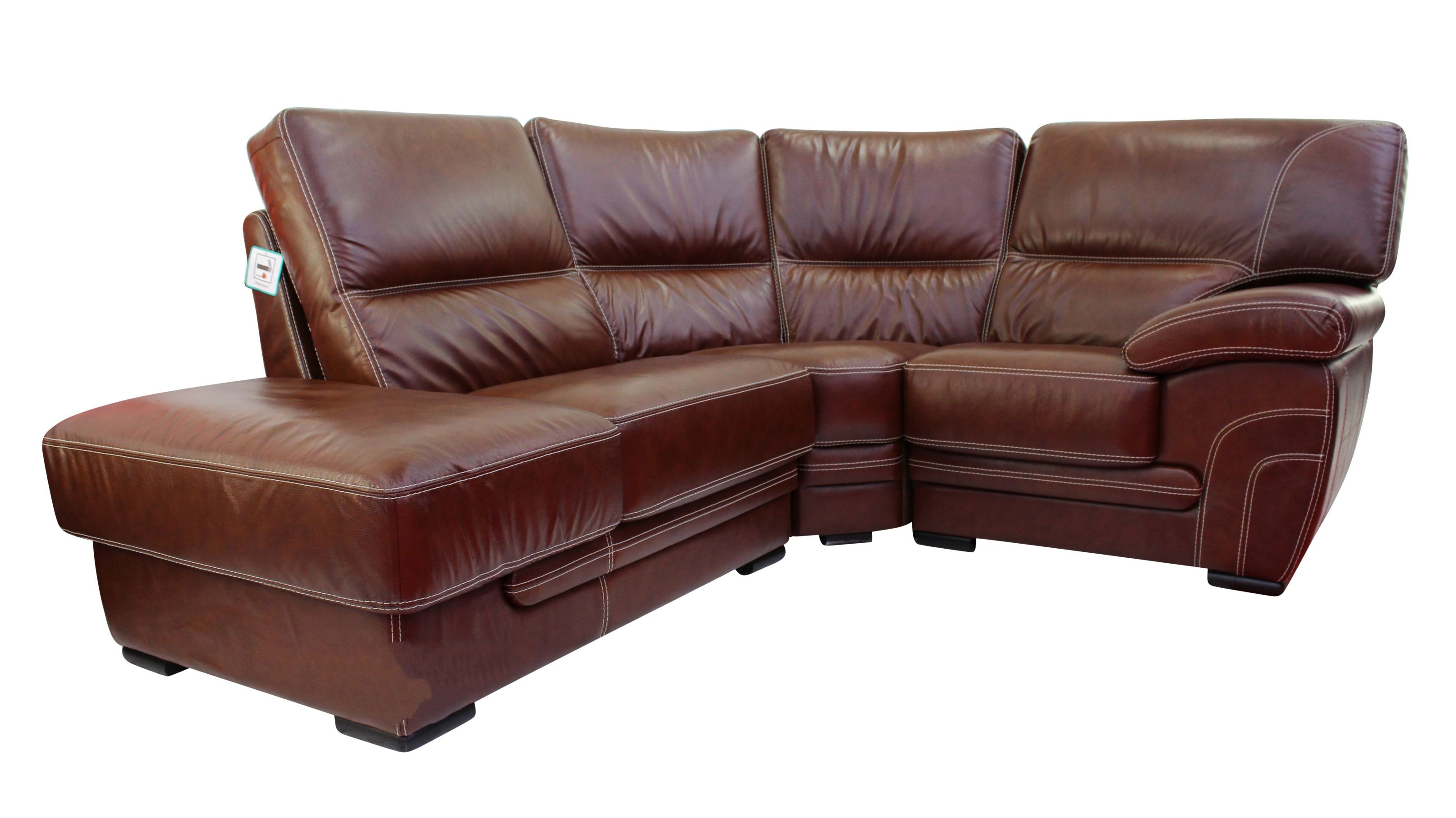 Georgia 1 + Corner + 1 Genuine Italian Tabak Brown Leather Corner Sofa  Group Suite Offer