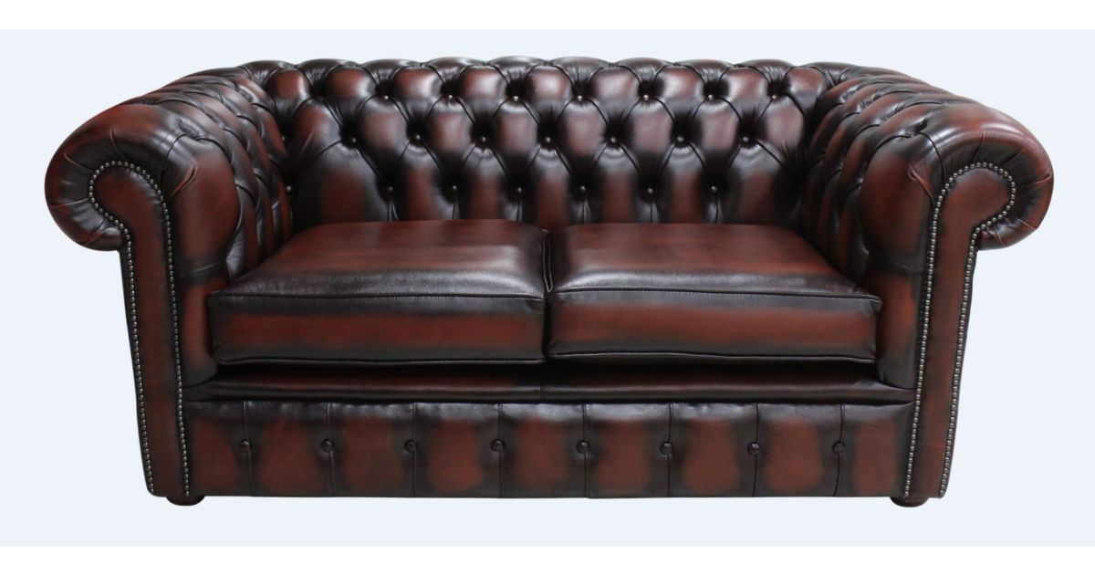 Buy Rust Leather Chesterfield Sofa At Designersofas4u